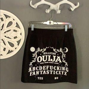 KillStar Ouija mini skirt Large L NWT